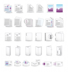 printing soft icons vector image