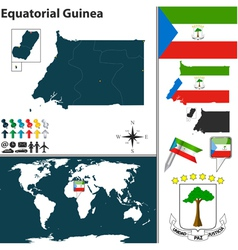 Equatorial guinea map world vector