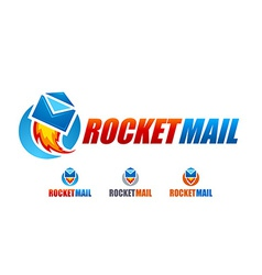 Rocket mail logo vector