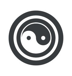 Round black ying yang sign vector