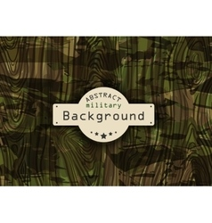 Camouflage military pattern background with wood vector