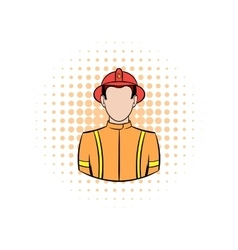 Fireman comics icon vector