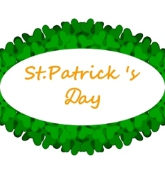 Banner with patrick day clover decorated vector