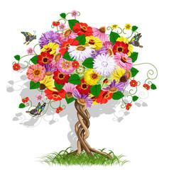 Art flower tree vector