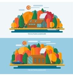 Autumn landscape concept vector