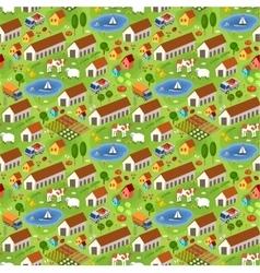 Big farmer pattern vector image