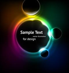 Blurred lights background vector