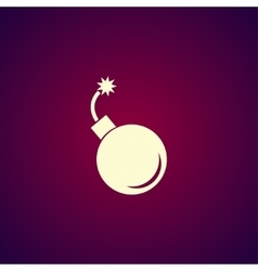 bomb icon Flat design style vector image vector image