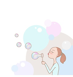 bubbles girl vector image
