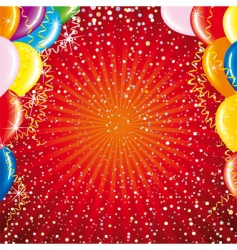 celebrating card vector image vector image