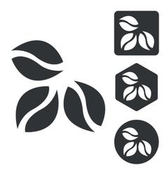 Coffee icon set monochrome vector