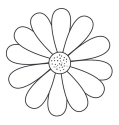 cute and beautiful flower vector image vector image