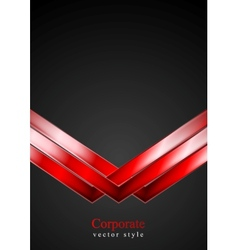 Dark technology background with red arrows vector image vector image