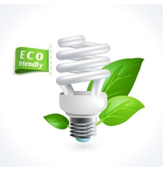 Ecology symbol lightbulb vector image vector image