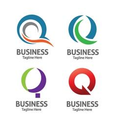 Elegant Letter Q vector image