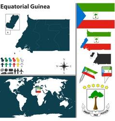 Equatorial guinea map world vector