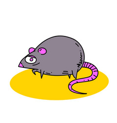 fat rat vector image
