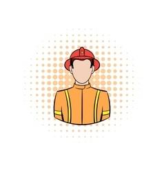Fireman comics icon vector image