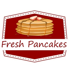 Fresh pancakes template vector