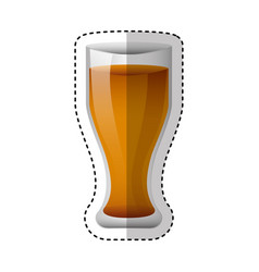 Glass drink isolated icon vector