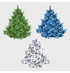 Green white and blue tree without toys vector image