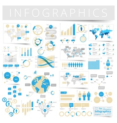 Infographics with data icons world map vector