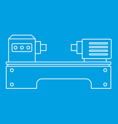 Lathe machine icon outline style vector
