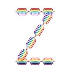 Letter Z made in rainbow colors vector image vector image