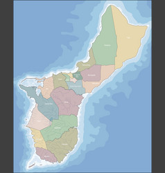 map of guam vector image