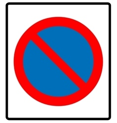 no parking symbol vector image vector image