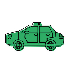 police car icon image vector image