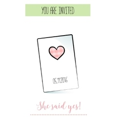 Romantic announcement for bridal shower party vector image vector image