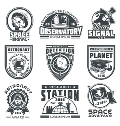 Set of badges space vector image vector image