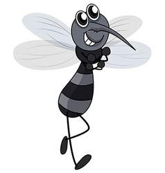 Smiling mosquito vector image