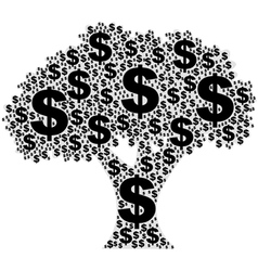 Tree made of dollar signs vector image