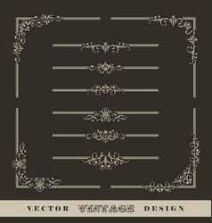 vintage calligraphic border vector image vector image