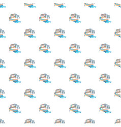 Waterslide in pool pattern vector