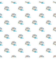 waterslide in pool pattern vector image vector image