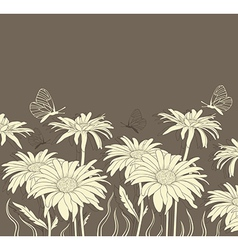 Background with chamomile vector