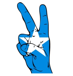 Peace sign of the somali flag vector