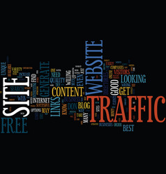 The best website traffic is free website traffic vector