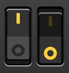Black toggle power switches vector