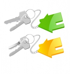 Keyring cottage vector