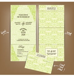 Seal and send wedding invitation vector