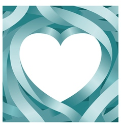 Heart shape and ribbon background vector