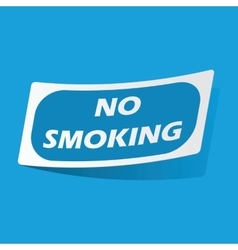 No smoking sticker vector