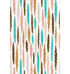 Seamless pattern with stripes Colorful hand drawn vector image