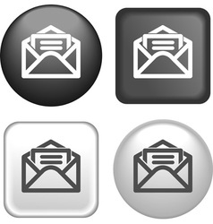 Button envelope vector