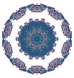 Ornamental round lace indian style islamic art vector