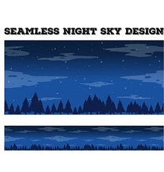 Seamless night sky design vector image